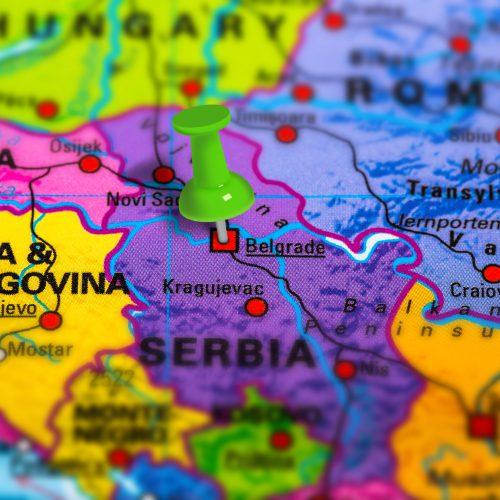 Belgrade Serbia map